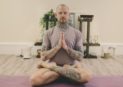picture of Kyle in meditation